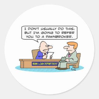 el crédito bancario refiere al prestamista pegatina redonda