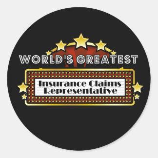 El crédito de seguro más grande del mundo pegatina redonda