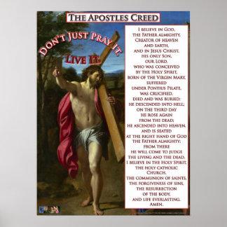 El credo de los apóstoles póster