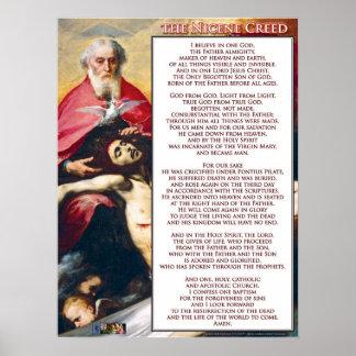El credo de Nicene Póster