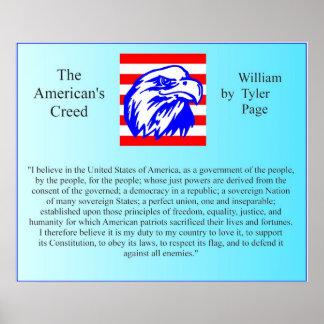 El credo del americano póster