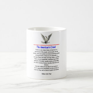 El credo del americano taza