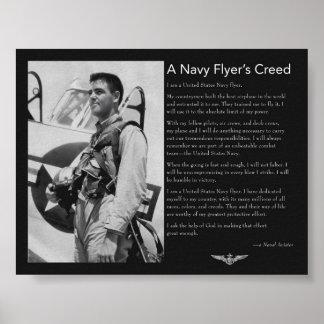 El credo del aviador de la marina de guerra posters