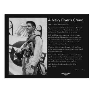 El credo del aviador naval postal