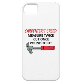 El credo del carpintero iPhone 5 carcasas