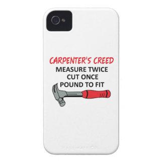 El credo del carpintero iPhone 4 Case-Mate funda