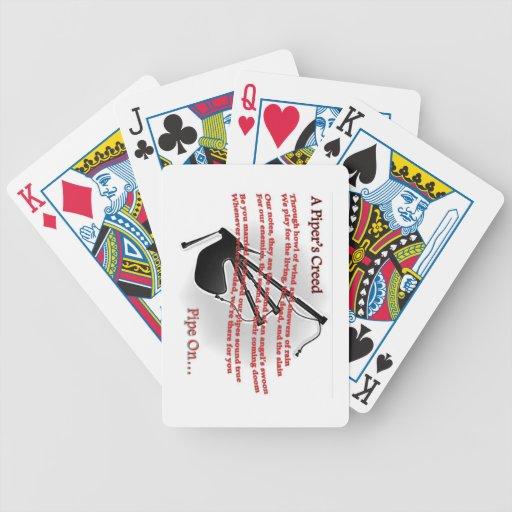 El credo del gaitero cartas de juego