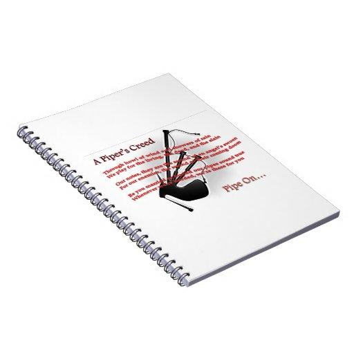 El credo del gaitero libro de apuntes con espiral