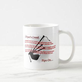 El credo del gaitero taza de café