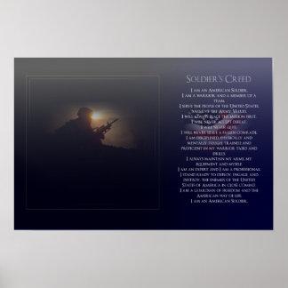 El credo del soldado póster