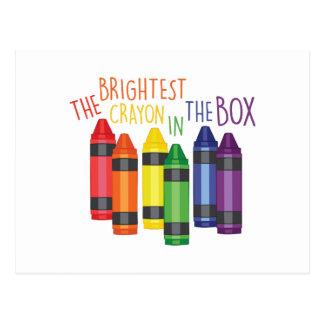 El creyón más brillante postales