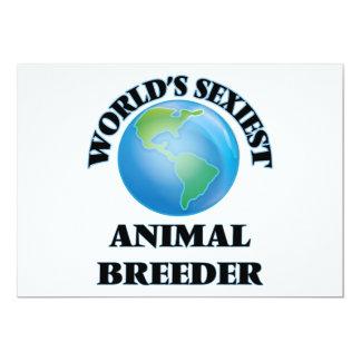 El criador animal más atractivo del mundo invitación 12,7 x 17,8 cm