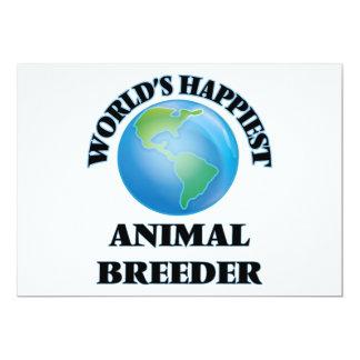 El criador animal más feliz del mundo invitación 12,7 x 17,8 cm