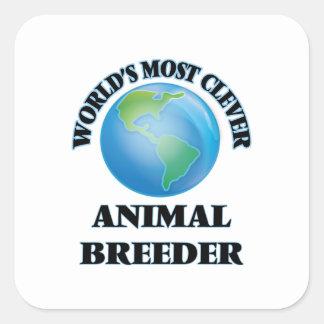 El criador animal más listo del mundo pegatina cuadrada