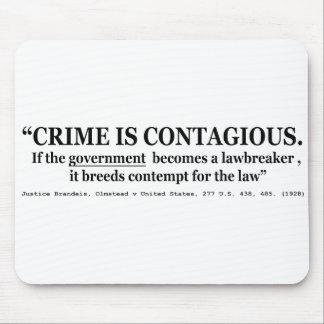 El crimen es Olmstead contagioso v Estados Unidos Alfombrilla De Raton