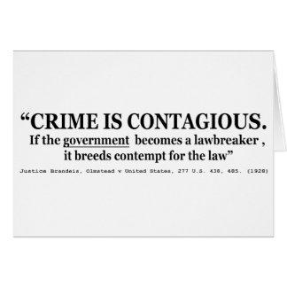 El crimen es Olmstead contagioso v Estados Unidos Tarjeta