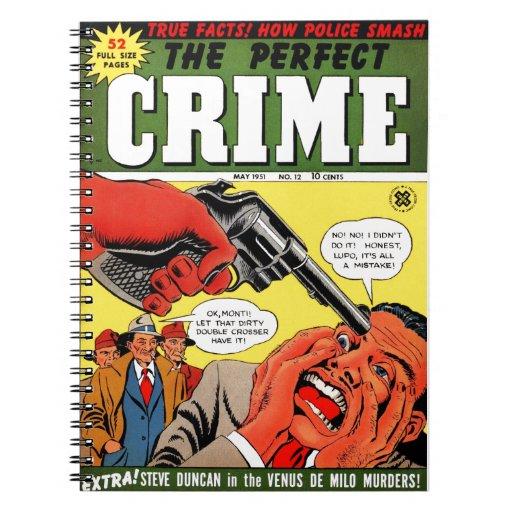 El crimen perfecto #12 libros de apuntes con espiral