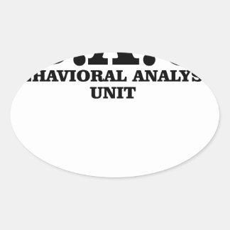 El criminal importa del camisetas de la unidad del pegatina ovalada