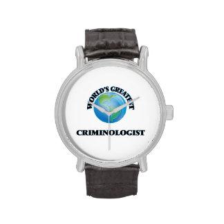 El criminalista más grande del mundo reloj