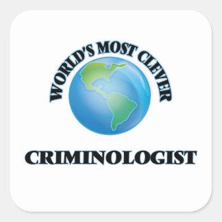 El criminalista más listo del mundo calcomania cuadradas personalizadas