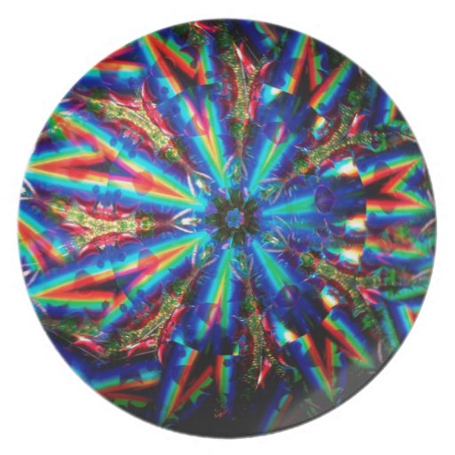 El cristal abstracto refleja a Deco Platos De Comidas
