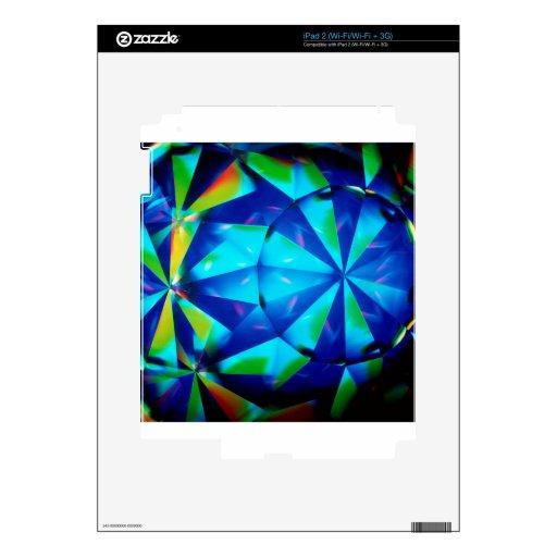 El cristal abstracto refleja al payaso skins para iPad 2