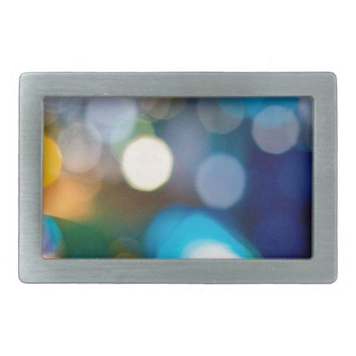El cristal abstracto refleja Belces Hebillas Cinturon Rectangulares