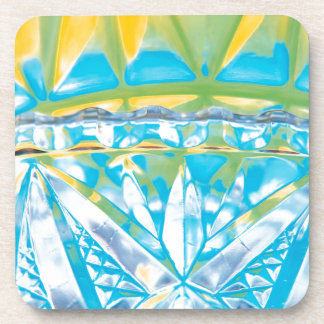 El cristal abstracto refleja celebra posavasos