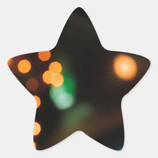 El cristal abstracto refleja comida campestre pegatina forma de estrella personalizadas