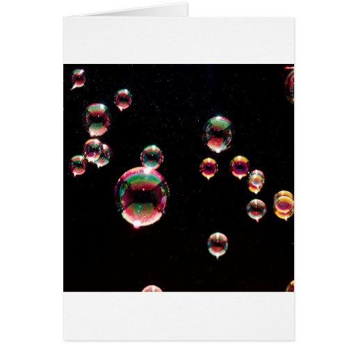 El cristal abstracto refleja descenso tarjeta de felicitación