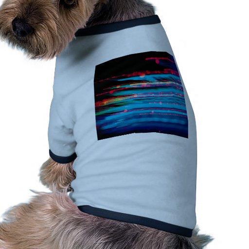 El cristal abstracto refleja el Info Camiseta Con Mangas Para Perro