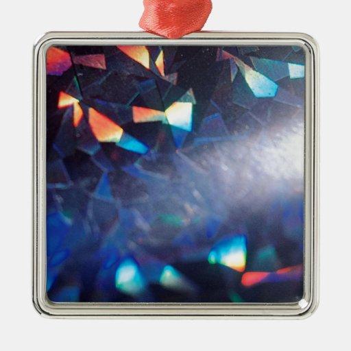 El cristal abstracto refleja en mezcla adorno