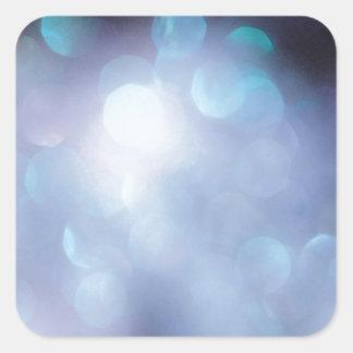 El cristal abstracto refleja escamas del azúcar pegatina cuadrada