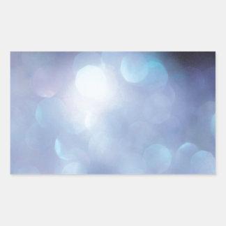 El cristal abstracto refleja escamas del azúcar pegatina rectangular