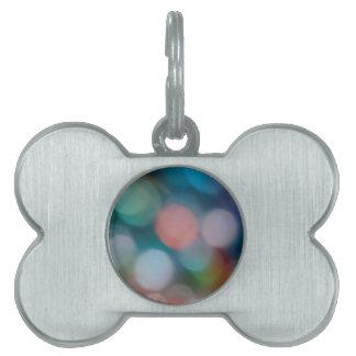 El cristal abstracto refleja esperanza placa de mascota