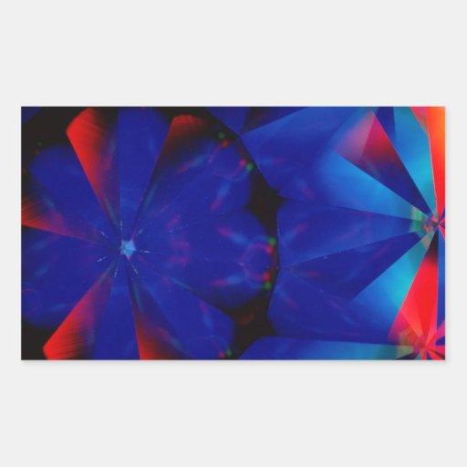 El cristal abstracto refleja fantasmagórico pegatinas