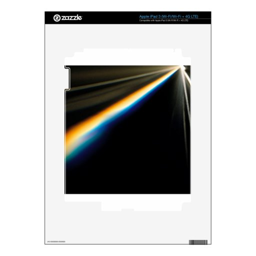El cristal abstracto refleja horizonte pegatinas skins para iPad 3