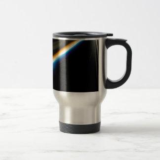 El cristal abstracto refleja horizonte tazas