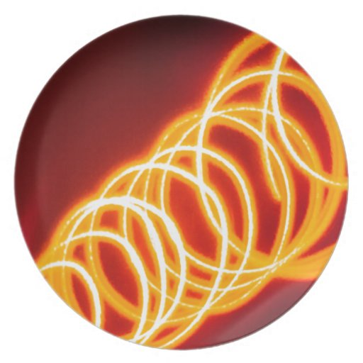 El cristal abstracto refleja Hula Plato De Comida