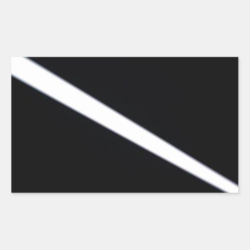 El cristal abstracto refleja la línea pegatina rectangular