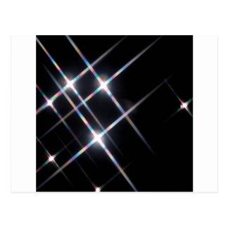 El cristal abstracto refleja las estrellas de la p postales