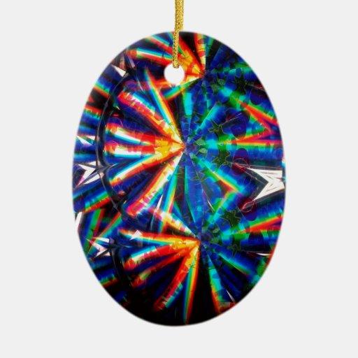 El cristal abstracto refleja maravilla adorno ovalado de cerámica