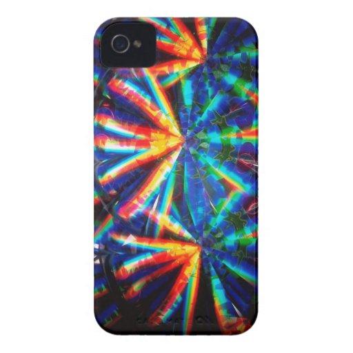 El cristal abstracto refleja maravilla iPhone 4 funda