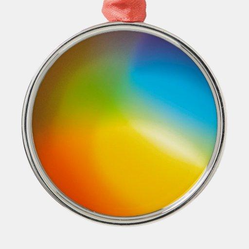 El cristal abstracto refleja Paintshop Adornos De Navidad