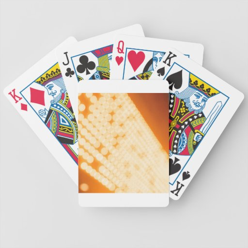 El cristal abstracto refleja polca baraja de cartas
