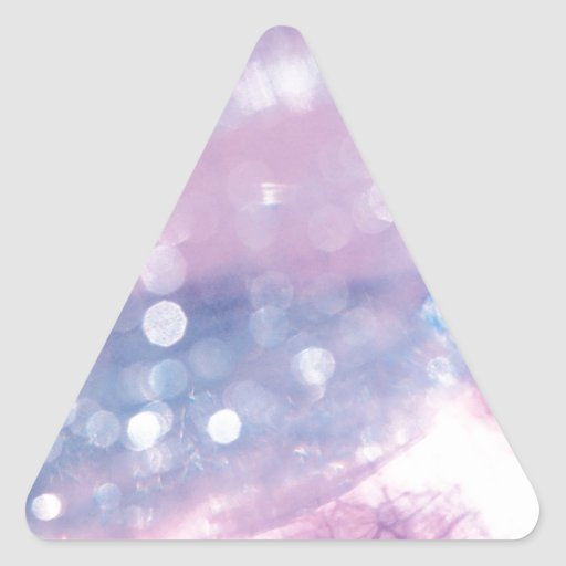 El cristal abstracto refleja reflejo pegatina triangular