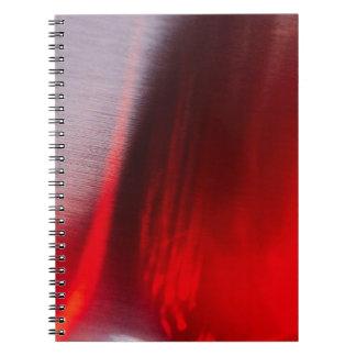 El cristal abstracto refleja Satan Libro De Apuntes Con Espiral