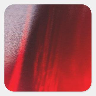 El cristal abstracto refleja Satan Colcomanias Cuadradas