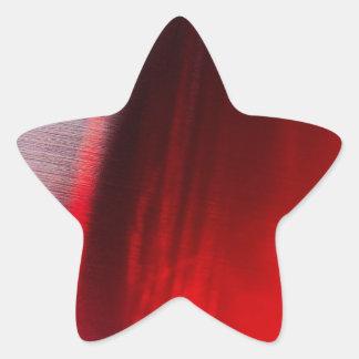 El cristal abstracto refleja Satan Pegatina En Forma De Estrella