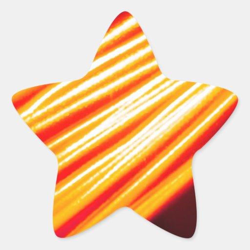 El cristal abstracto refleja Squiggel Calcomanías Forma De Estrellas Personalizadas